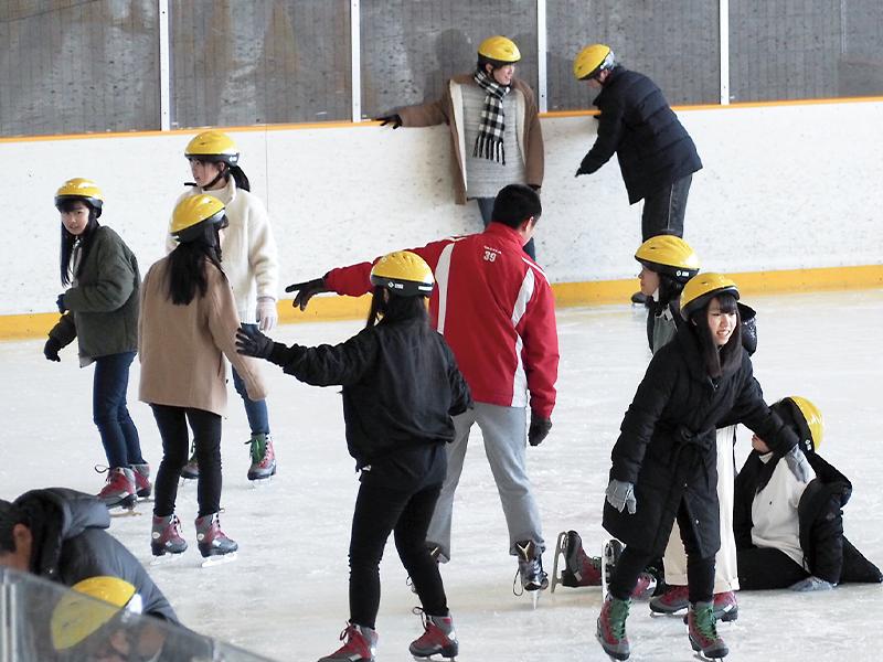 スケート教室の様子