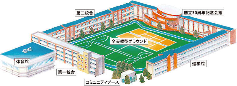 啓明高校 イラストマップ